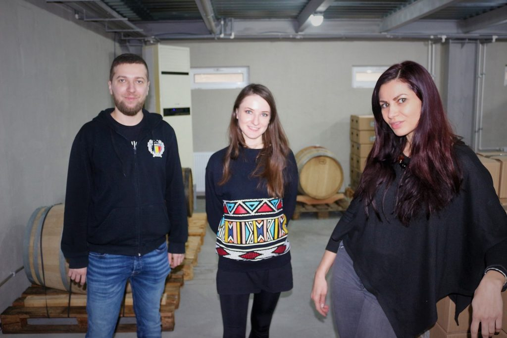 With Laurentiu Mandrila and Ioana Coca, the owners and brewers at Oriel
