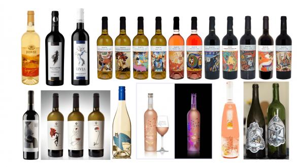 romanian wine labels art