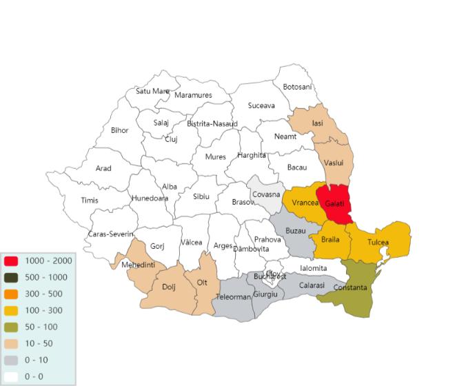 Babeasca neagra harta raspnadirii 2000 ha