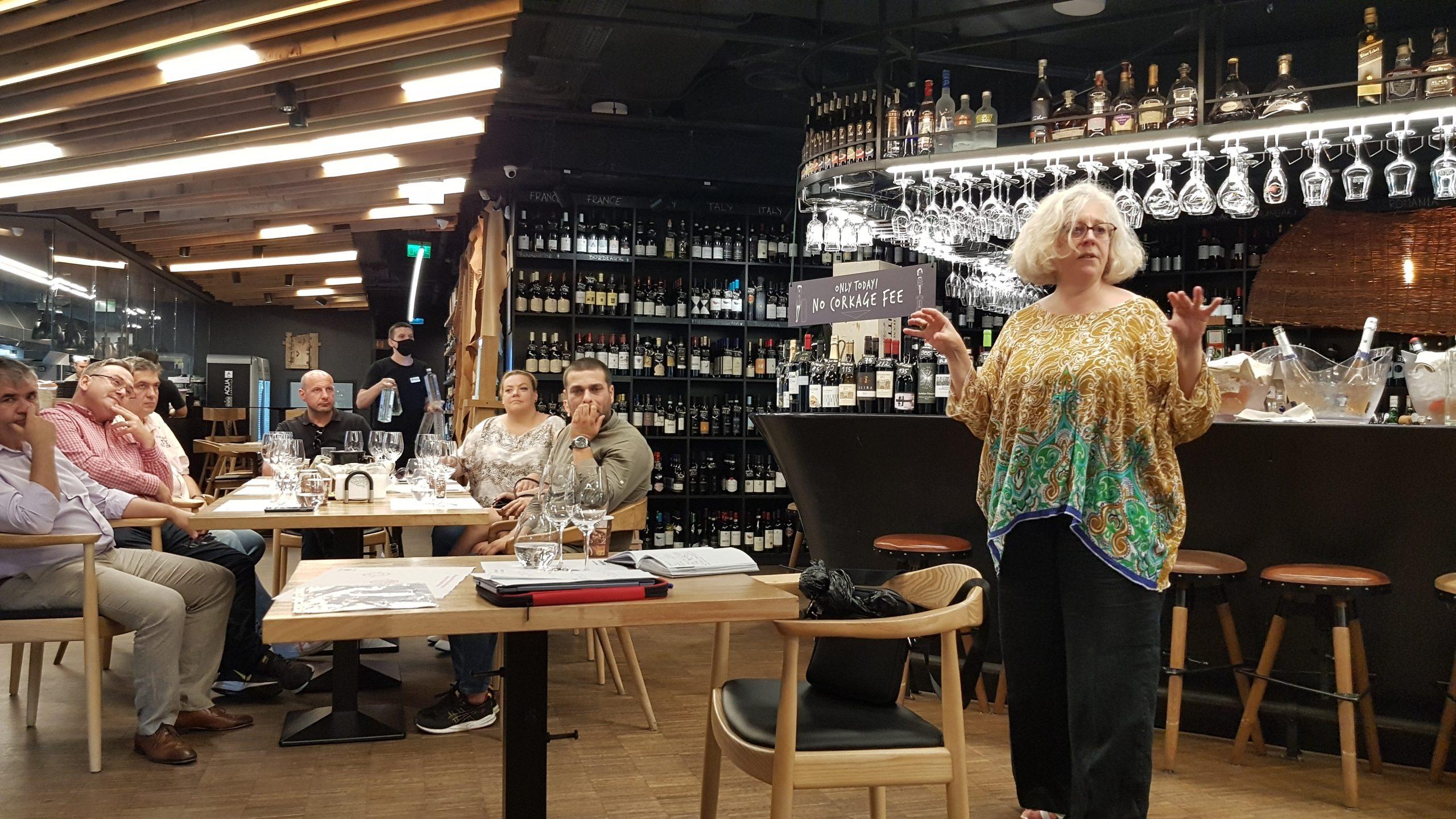 Elizabeth Gabay rose pink wine revolution masterclass bucuresti
